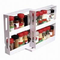 Wholesale Swivel Store/Cabinet Organizer Spice Rack, Saves Space and Organizes Clutter in a Pantry from china suppliers