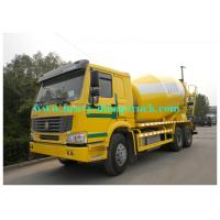 Wholesale HOWO 10 wheels Concrete Mixer Truck 10 cubic meter 336hp for Congo 6X4 Yellow color from china suppliers
