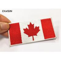 Wholesale Custom Canada Flag Embroidery Iron Patches No Minimum For Clothing from china suppliers