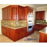 Buy cheap Solid Cherry Wood Kitchen Cabinets with Granite Countertop and Kitchen Sinks from wholesalers
