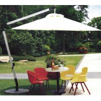 Wholesale 2.5M Beige Double Patio Umbrella , Round Offset Umbrella With 360 Degree Rotating Base from china suppliers