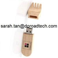 Wholesale Wooden Fork Shaped USB Flash Drives, Real Capacity Wood USB Pen Drives from china suppliers
