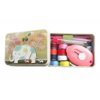 Wholesale Helpful Sewing Kits For Adults , Emergency Sewing Kit With Metal Box 11 Contents from china suppliers