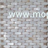 Wholesale Oval shape white shell mosaic from china suppliers