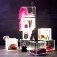 Wholesale Light weight Acrylic Storage Boxes , decoration clear display boxes from china suppliers