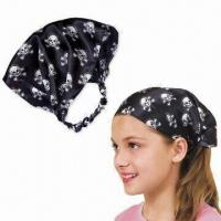 Wholesale Bandana, Made of 100% Cotton, Customized Sizes, Designs and Logos are Welcome from china suppliers