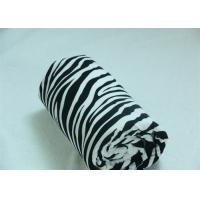 Wholesale Zebra Black And White Blanket For Airplane / Home Wrinkle Resistant from china suppliers
