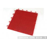 Wholesale Eco - Friendly Plastic Anti Slip Interlocking Gym Flooring Surface 25x25x1.27cm from china suppliers