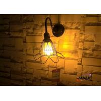 Wholesale MASO Metal Retro Style Iron Wire Handcraft Pocess With Power Switch E27 CE Standard Wall Lamp for Bar Dinning Room Place from china suppliers