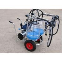 Wholesale 25L Goats Mobile Milking Machine With Transparent Bucket , Single / Double from china suppliers