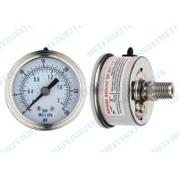 Wholesale Movement sealing 63mm back stainless steel pressure gauge with crimp bezel from china suppliers