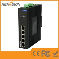 Wholesale Din Rail 5 Port Industrial Network Switch Dual Power Supply Ethernet Switch from china suppliers