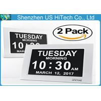 Wholesale Atomic Wall Digital Calendar Day Clock Day And Date Clock With Auto Night Light from china suppliers