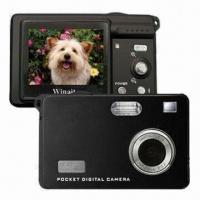 Wholesale Mini 5-megapixel Digital Cameras, 4x Digital Zoom and USB2.0 Interface from china suppliers