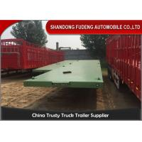 Wholesale 3 Axle 20ft 40ft Container Transport Flatbed Container Trailer / Flatbed Semi Trailer from china suppliers