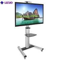 Wholesale TC875 Moblile Floor TV Stand Cart with Audio Shelf and Heavy Duty Lockable Caster Wheels, for 37 to 70 inch LCD LED from china suppliers