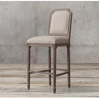 Buy cheap RH Antique Wooden Upholstered Bar Stools / Restaurant Bar Stools from wholesalers
