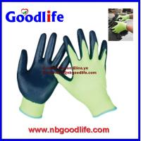 Wholesale 13 gauge cheap black nylon nitrile gloves, nitrile coated gloves from china suppliers