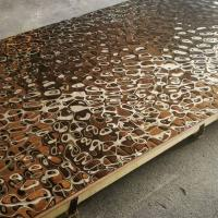 Wholesale 2018 Steelcolor Aperam Supplier Water Ripple Pattern 1500*3000 Stainless Steel Mirror Copper Sheets In Foshan Factory from china suppliers
