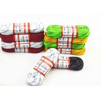 China Colorful Flat Waxed Ice Hockey Laces Waterproof Custom Paper Roll Packed on sale