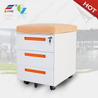 Wholesale mobile filing cabinet with cushion FYD-H004,3 drawer,5 wheels,3 section slideway,RAL colo from china suppliers
