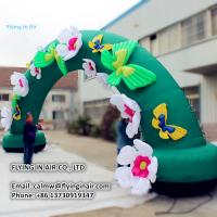 Wholesale Lovely Oxford 10m Inflatable Flower Arch for Children and Plant Event from china suppliers