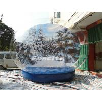 Wholesale Christmas PVC Tarpaulin PVC Giant Inflatable Snow Globe Winter Wonder Snow Ball from china suppliers