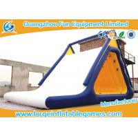 Wholesale Aqua Fun Inflatable Commercial Water Slides With Climbing , 0.6mm / 0.9mm Thickness from china suppliers