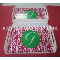 Wholesale 2015 new white bar serving tray, acrylic drink serving tray for hotel supplies from china suppliers