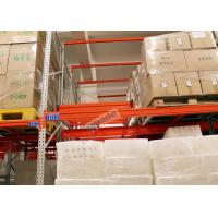 Wholesale Beverage Industry Push Back Rack Orange Double Deep Pallet Racking Heavy Duty from china suppliers