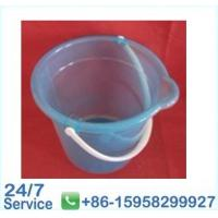 Wholesale 27.5*18.5*H25cm home blue clear flexible plastic buckets with Strong Handles - BN6073 from china suppliers