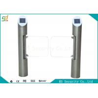 Wholesale Automatic Post Supermarket Swing Barrier  IR Sensor Bevel Swiping Card Gate from china suppliers