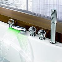 Wholesale LED Color Changing Waterfall with Hand Shower Tub Faucet, FY-1406-02 from china suppliers