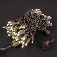 Wholesale 50 LED Warm White LED Christmas Lights on Brown Wire from china suppliers