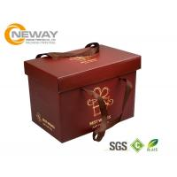 Wholesale Custom Gift  Food Boxes , Deluxe Customized Artpaper Handle Cake Box With PVC Window from china suppliers