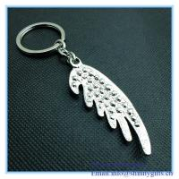 Wholesale Rhinestone angel wings shape metal Key Chain from china suppliers