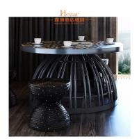 Wholesale Professional Custom Black Hotel Lobby Furniture Dining Table And Chair from china suppliers