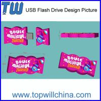 Wholesale Unique Customized USB Flash Drive Candy Design Sweet Product Soft PVC from china suppliers
