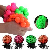 Squishy Ball Physics : Bead Water Walking Ball Rubber Squeeze Grape Ball Toy Mesh Squishy Ball 5cm 6cm of item 107635769