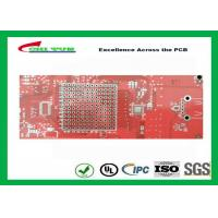 China Double sided PCB Gold Plating  Red solder mask LF HASL  ISO9001  UL  ISO SGS on sale