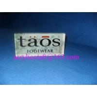 Wholesale High transparent solid acrylic brand block/acrylic logo blocks/perspex logo sign for shop from china suppliers