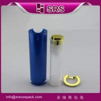 Wholesale blue painting color airless bottle for lotion,luxury airless pump bottle from china suppliers