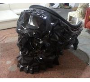Wholesale Black Color Fiberglasses Made Skull Shape Single Seaters Sofa from china suppliers