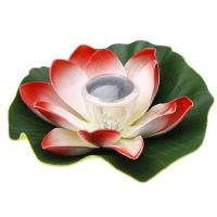 Wholesale Solar Colorful LED Lotus Lamp Floating Rotating Pond Light Garden Pool Nightlight from china suppliers