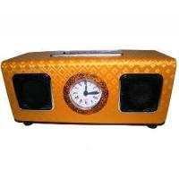 Wholesale Yellow Squamous Face Mini Speaker Support SD/MMC Card with FM Radio (UK-D16A) from china suppliers