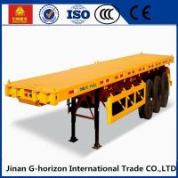 Wholesale 13T Fuwa Axle 40 ton Flat Bed Semi Trailer , Container Semi Trailer Yellow Red Green Blue from china suppliers