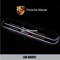 Wholesale Porsche Macan car door safety lights led moving specail scuff light from china suppliers