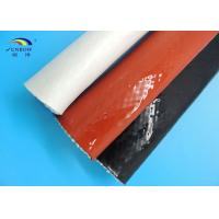 Wholesale Steel Plant Use Braided Fiberglass Sleeve With Silicone Cover High Temperature Resistant from china suppliers