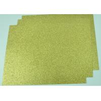 Quality Customized Glitter Cardstock Paper , Festival Use Double Sided Gold Glitter Card for sale