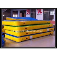 Wholesale Blue / Yellow Inflatable Tumbling Track Plat Double Wall Fabric Material from china suppliers